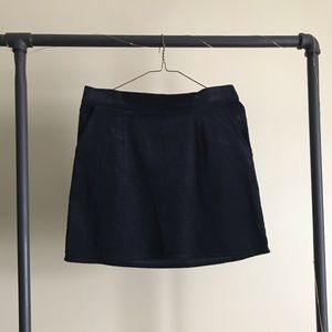 Navy Corduroy Skirt